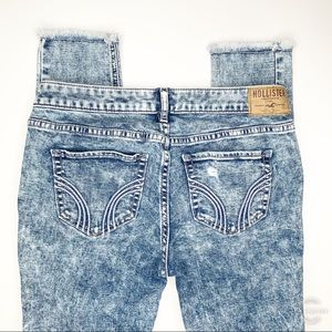 Hollister Stone Wash Distressed Jeans